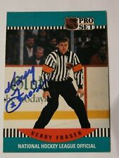 Kerry Fraser NHL Referee autographed card