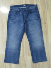 """New 7 For All Mankind Carsen Blue Jeans Straight Leg Pants Size 33 (26"""" Inseam)"""
