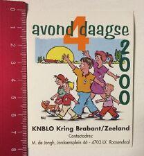 Aufkleber/Sticker: Avond 4 Daagse 2000 - KNBLO Kring Brabant/Zeeland (23031638)