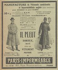 Z8051 Vetements pratique de PARIS IMPERMEABLE -  Pubblicità d'epoca - 1910 Ad