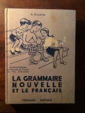 LIVRE SCOLAIRE/GRAMMAIRE CM1 CM2 NATHAN 1956