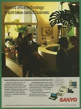 SANYO computers & other office technology - 1989 Vintage Print Ad