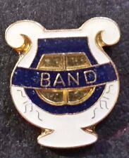 "Tie Tack Lapel Pin (Jn110) Vintage Enamel Gold Tone ""Band"""