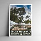 Rocky Mountain National Park WPA-Style Vintage Travel Poster 12x18 Colorado