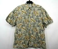 Pierre Cardin Mens Hawaiian Floral Printed Short Sleeve Button Up Casual Shirt L