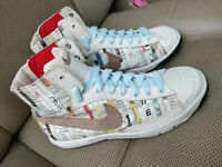 Nike Blazer Mid Premium Womens High Top Sneakers Trainers Shoes White 432172