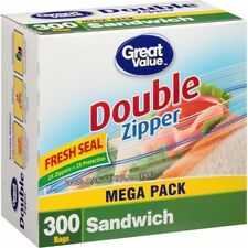 Great Value Sandwich Bags, 300 Count, New Free Shipping, NO Tax~