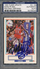 1990/91 Fleer Update #U-69 Manute Bol PSA/DNA Certified Authentic Auto *6348