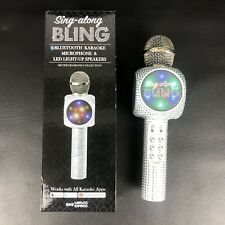 Sing Along BLING Bluetooth Karaoke Microphone & LED Lights