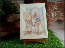 """Vintage 1970's Hallmark Betsey Clark """" Nature'S Friends"""" Canvas With Easel"""