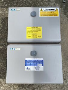 Eaton MEM Memshield 3 10-Way Metal Consumer Units Two Joint Together With Mcb