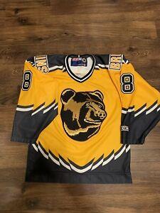 CCM Cam Neely Boston Bruins Pooh Bear NHL Hockey Jersey Yellow Alternate Small S