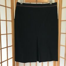 """""""CUE"""" SIZE """"10"""" LADIES GORGEOUS BLACK KNEE LENGTH SKIRT WITH PLEATS TO BACK"""