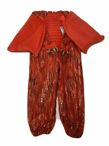 Pottery Barn Kids Red Dragon Costume Ages 4-6 NEW (Body suit only) No Headpiece