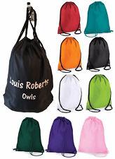 Personalised Custom Drawstring Bag - Childrens School PE Sports Boots Class Name