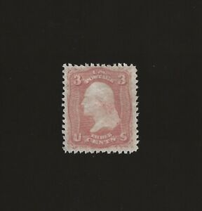 US Scott No 65 - the 1861 3 Cent Issue - Unused without Gum - Well Centered