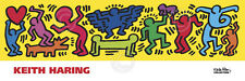 Untitled, 1987 by Keith Haring - Pop Art Print Poster Dancing People Heart 36x12
