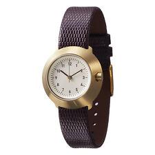 """Normal Timepieces """"Fuji"""" Quarzo Acciaio Oro Bianco Pelle Marrone Orologio Donna"""