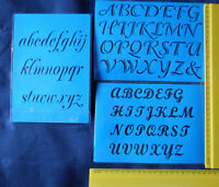 Plastic/PVC/Embossing/Stencil/Alphabet/SET3/Upper/Lower/Case/PP/Flexible
