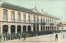 ECUADOR RIOBAMBA PALACIO DE GOBIERNO Y MUNICIPALIDAD CON LA GUARNICION DE TROPAS