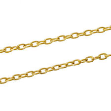 3ft Oval Gold Plated Findings Link opened Cable Chains 5x3mm Jewelry making  P5