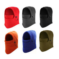 Men Women Winter Fleece Balaclava Hat Thermal Snow Ski Neck Face Mask Hood Cap