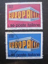 Italia MiNr. 1295-1296 EUROPA CEPT timbrato (N 621)