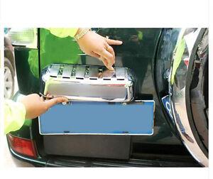 for Toyota LC Prado Fj120 2003 - 2009 Chrome Rear Trunk License Plate Cover Trim