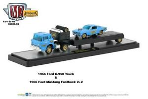 M2 Auto Haulers R33 '66 Ford C950 & '66 Ford Mustang Fastback 427