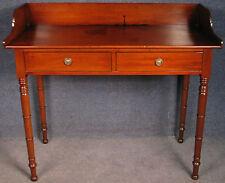 Georgian Mahogany 2 Drawer Side Table / Desk / Washstand