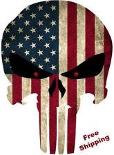 Punisher Skull Decal American Flag Sticker Truck Car Army Military DIE CUT VINYL
