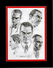 The SHADOW'S TRUE FACE PRINT PROFESSIONALLY MATTED DC Alex Ross Lamont Cranston