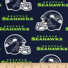 "NFL SEATTLE SEAHAWKS FOOTBALL CURTAIN SET  110"" WIDE X 63""LONG"