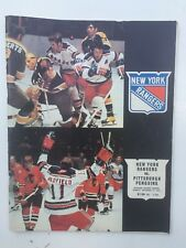New York Rangers vs. Pittsburgh Penguins Program December 17, 1972
