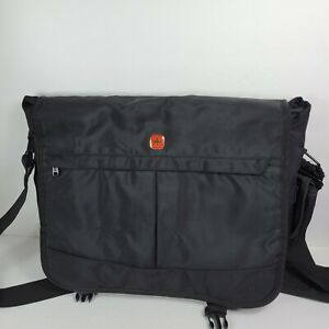 """SwissGear By Wenger Computer Briefcase Padded 16"""" Laptop Bag Case Black Carry-On"""