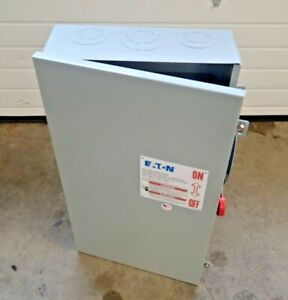 NEW DH324NGK2 Eaton Indoor Disconnect Switch 200 Amp 240 volt Fusible Indoor