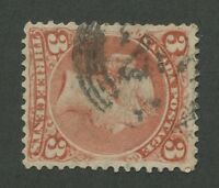 "CANADA #25 USED LARGE QUEEN 4-RING NUMERAL CANCEL ""20"" (.02)"