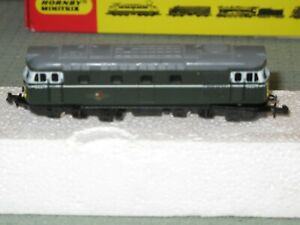 Hornby Minitrix N Gauge Diesel Locomotive BR Green