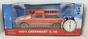 Green Machine 84131 Groundhog Day 1971 Chevrolet C-10 Greenlight Chase 1/24
