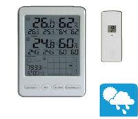 Funk Wetterstation FT0100 Multi-Farbdisplay Luftdruck MIN MAX Thermometer