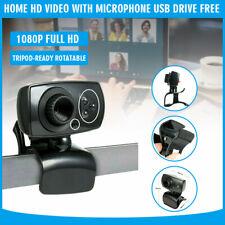 Hd Webcam Usb Computer Web Camera w/ Microphone Video Cam For Pc Laptop Desktop