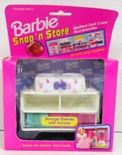 Barbie Snap 'n Store Quilted Doll Case Accessory - Storage Shelves with Drawer
