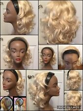 Headband Wig Platnium Blonde Soft Waves Very Good Condition! (K-HBB)