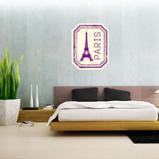 "Paris France Travel Wall Decal Large Vinyl Sticker 25"" x 20"""