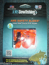 @New@ 5 Ams Safety Slides & Ring Set Kit for Bowfishing Arrows