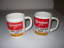 Carnation Hot Cocoa Coffee Mugs Set of 2