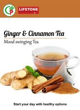 Ginger Cinnamon Detox Tea,Delicious Detox ,reduces weight loss,20 Teabags,40g
