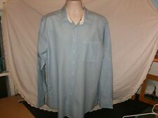 NEW THOMAS PINK~Blue Whte Stripe Mens Casual/Dress Shirt Sz XL NWOT