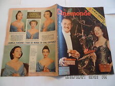 CINEMONDE N°1115 22/12/1955 M.PRESLE F.GRAVEY M.MONROE J.COLLINS BRASSEUR  K10