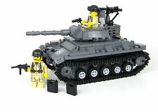 Deluxe US Army Chaffee Tank World War 2 Complete Set made w/ real LEGO® bricks